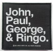 The Beatles - 'John, Paul, George & Ringo' Woven Patch